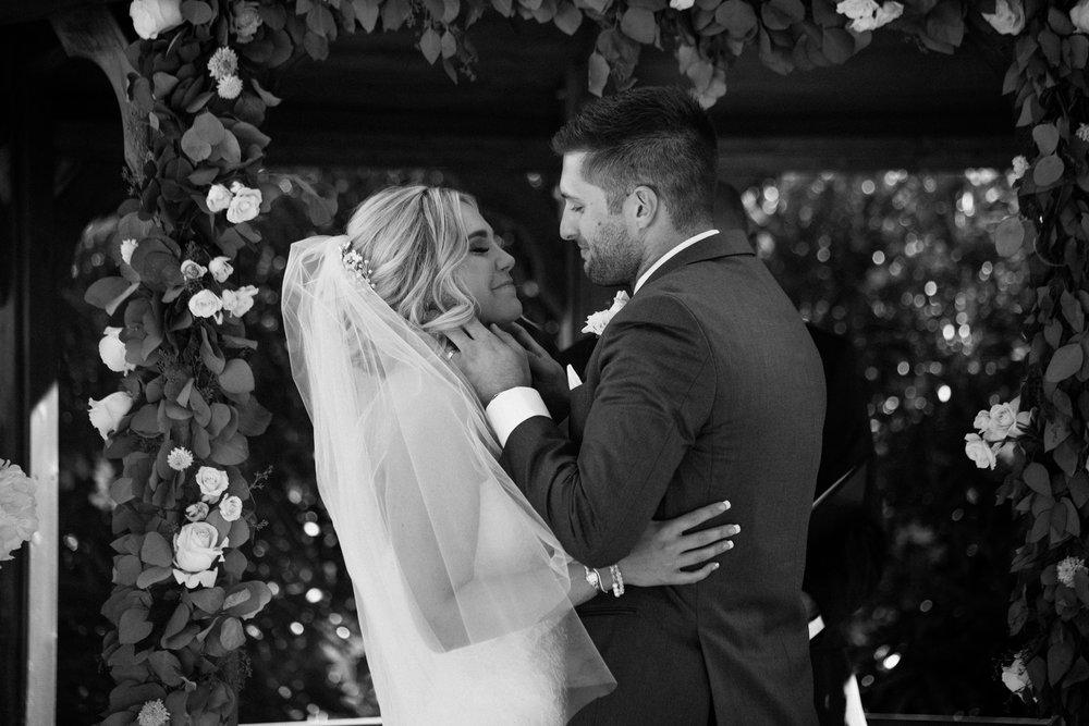 Mr & Mrs first kiss Elliston Vineyard Sunol.jpg