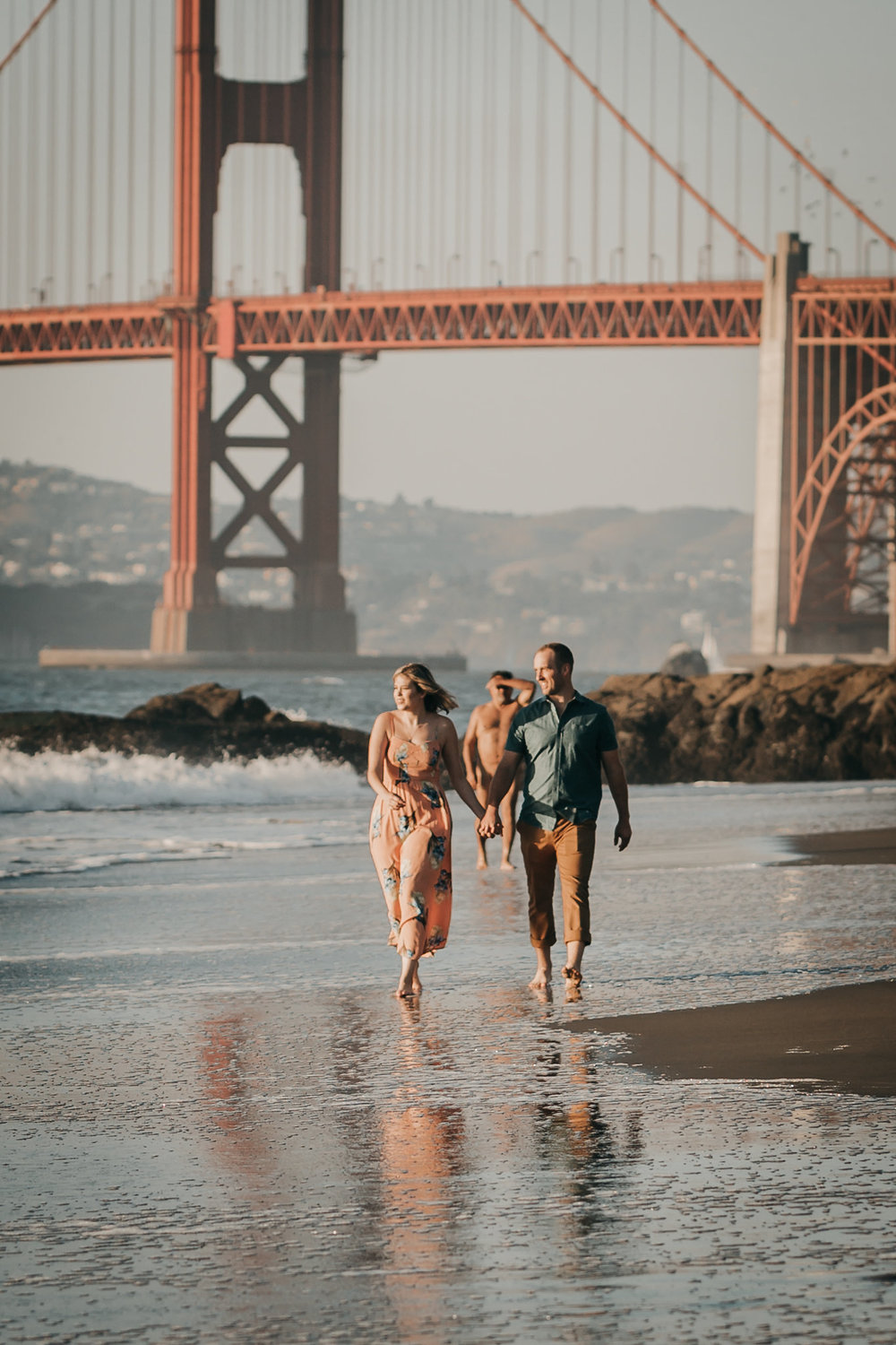 Baker Beach Engagement Nudist
