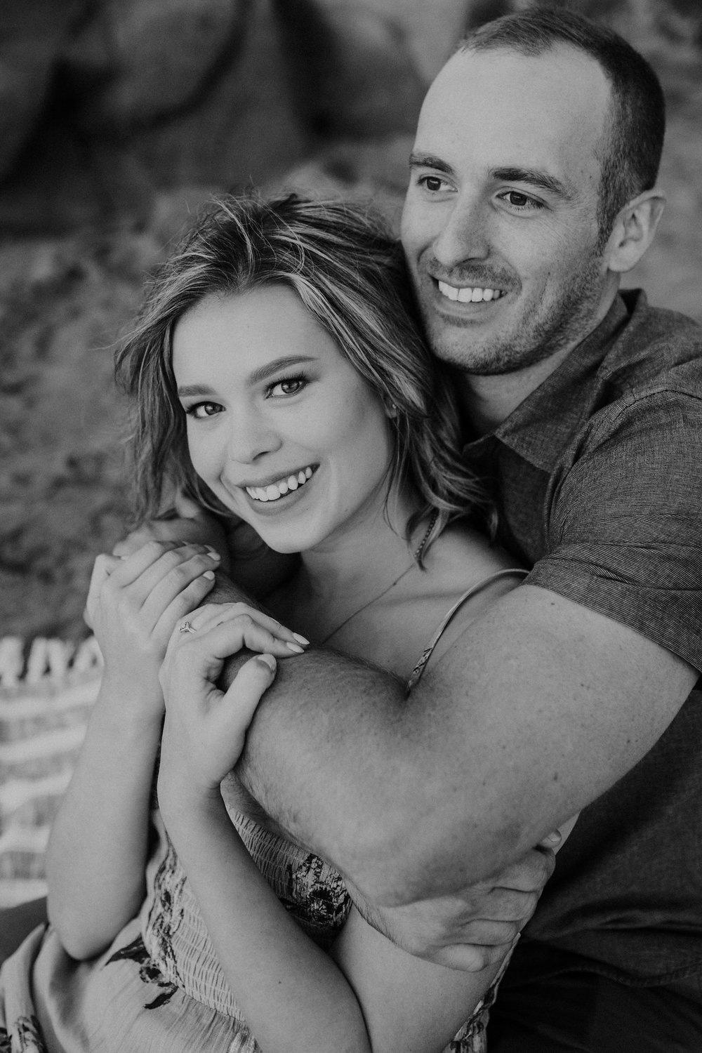Baker Beach Engagement Shoot Couple
