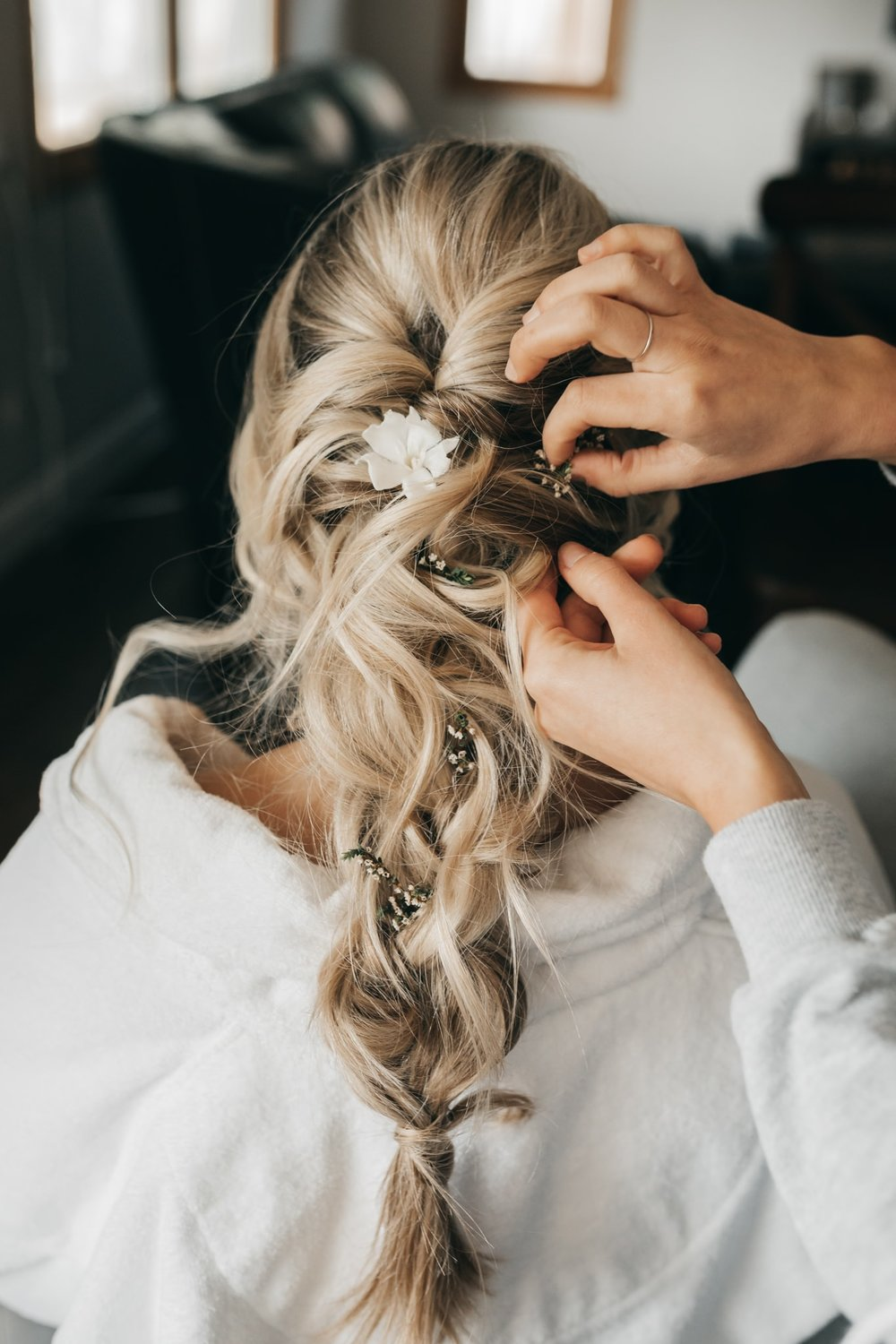 Pleasanton Boho Bride Hairstyle