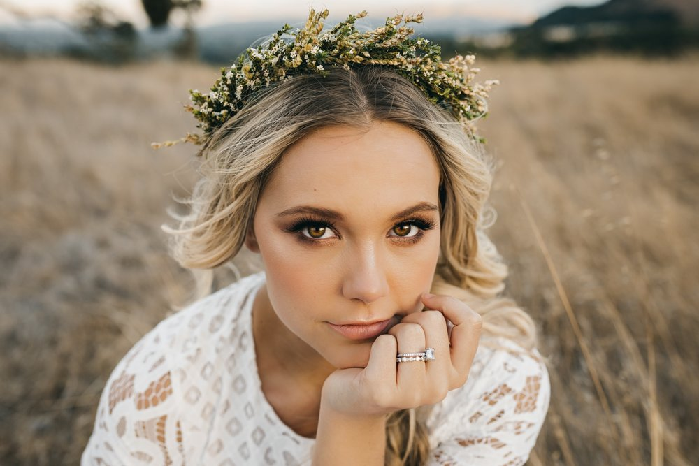 Pleasanton Boho Bride Portrait