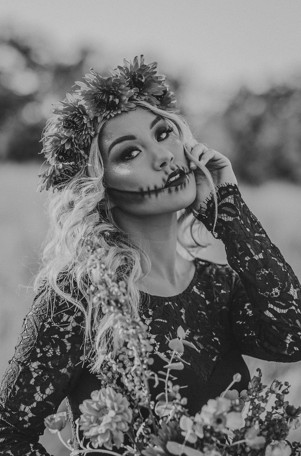 Skull Glam Halloween Shoot