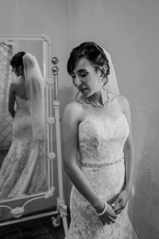 Black & White Bride Portrait