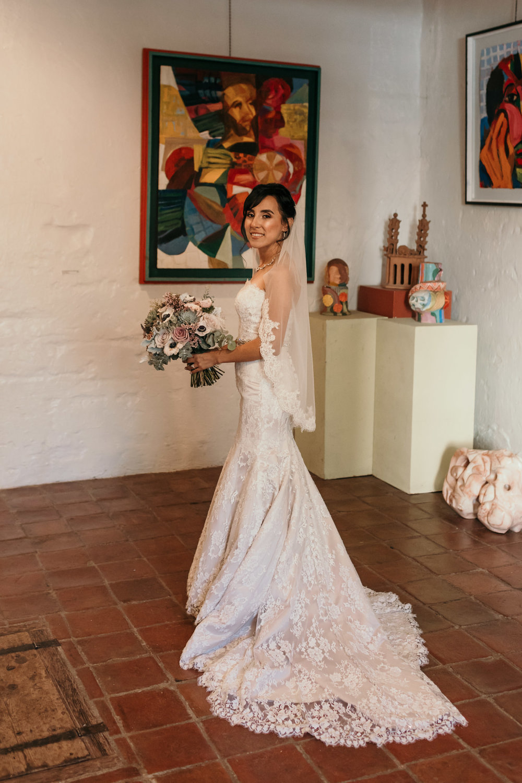 Bride in art Gallery