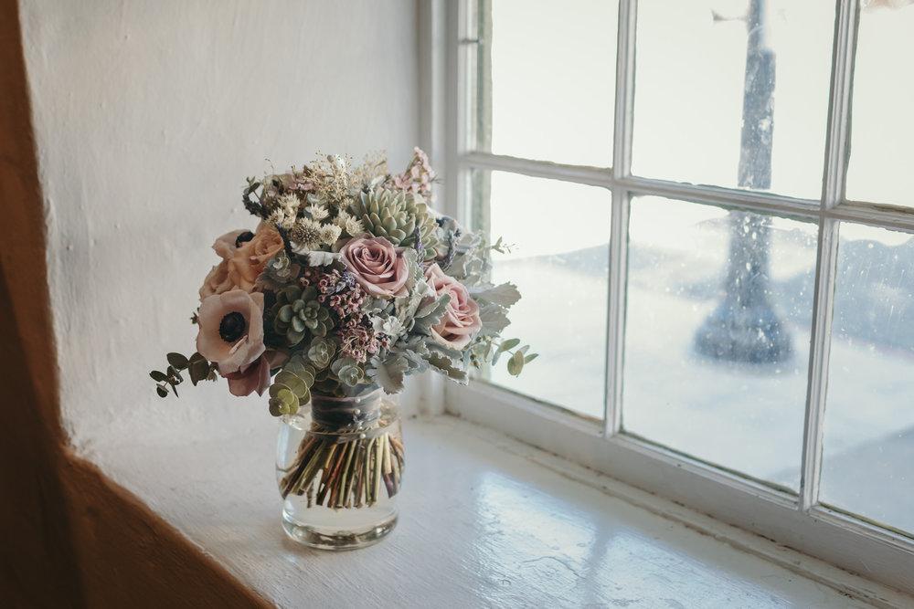Bridal Bouquet in Window