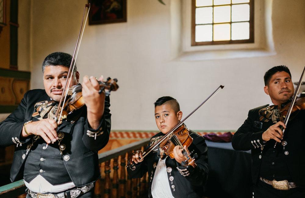 San Juan Bautista Church Wedding Mariachi