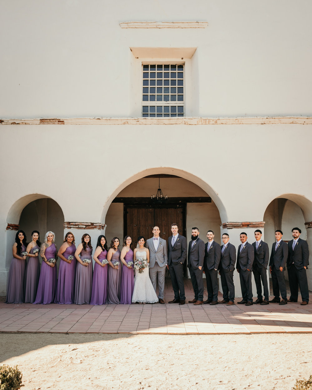 San Juan Bautista Church Wedding Bridal Party