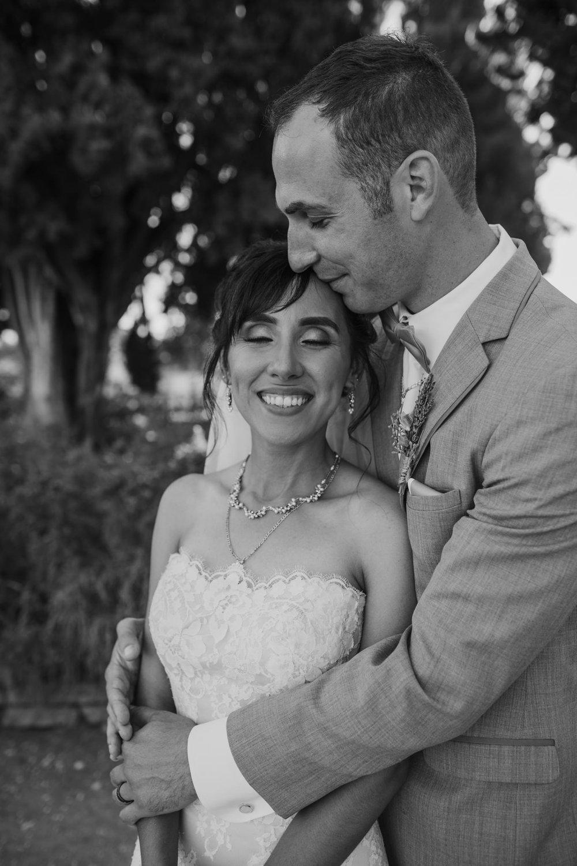 San Juan Bautista Church Wedding Bride Groom Black and White