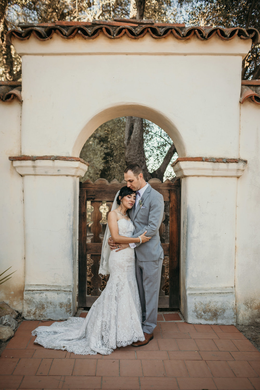 San Juan Bautista Church Wedding Bride and Groom
