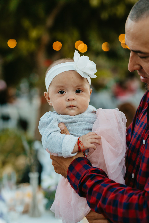 Jardines Outdoor Garden Wedding Reception Baby