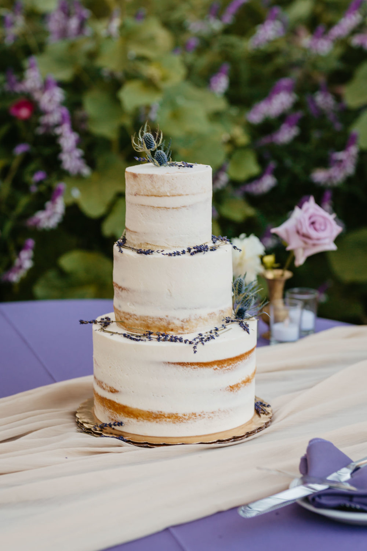 Jardines Outdoor Garden Wedding Lavender CAKE