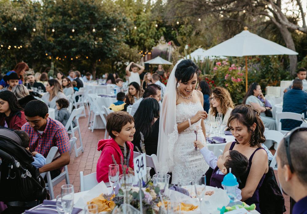 Jardines Outdoor Garden Wedding Reception Bride