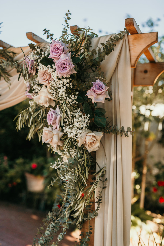 Jardines Outdoor Garden Wedding Reception Lavender Flowers