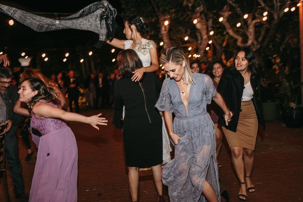 Jardines Outdoor Garden Wedding Reception Money Dance