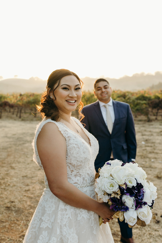 Bride and Groom Palm Event Center Livermore