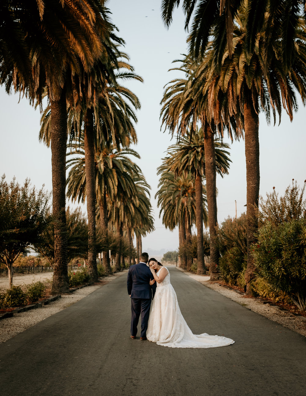 Bride and Groom at Palm Event Center Livermore