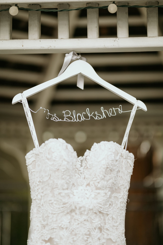 Wedding dress hanger detail