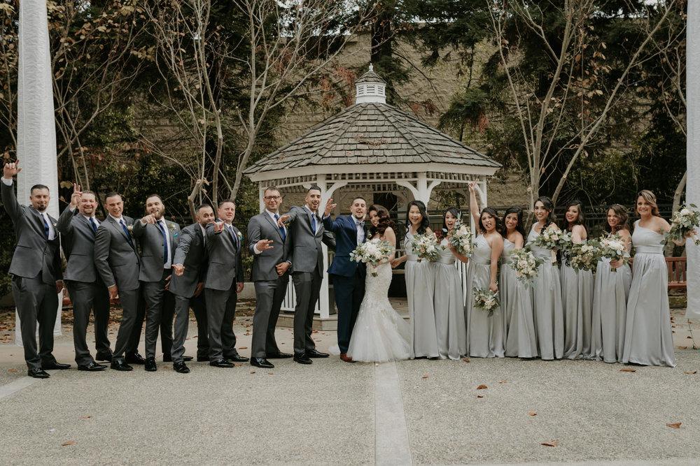 groomsen and bridemaids