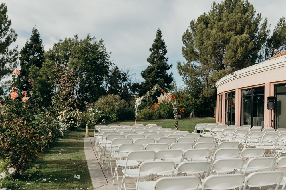 canyon view set up for wedding