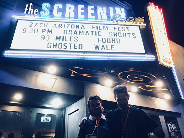 Fantastic weekend at @azfilmfest. Cheers to Giulio, Mia and all the organisers who made it such a memorable one. 🌵🦎🎞#walefilm #shortfilm #aziff2018 #azfilmfest