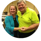 Kathy Wheeler with Cup of Chicken Soup for the Soul co-author Barry Spilchuk