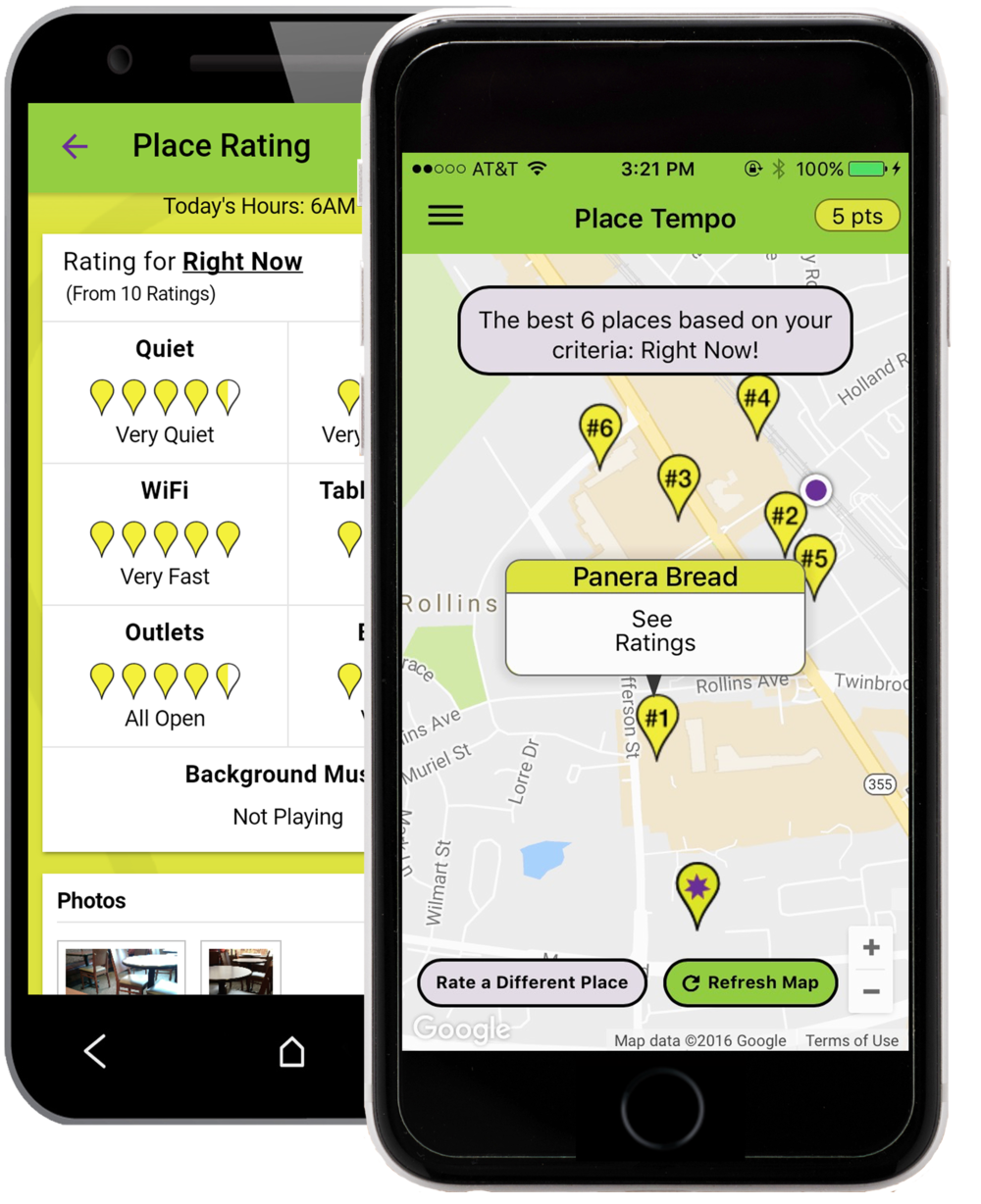 Place Tempo iOS and Android App