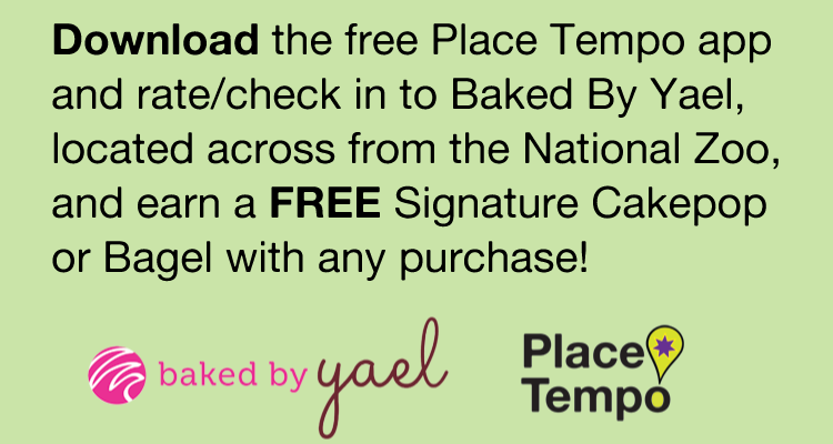 Place Tempo Apple and Android App and Baked by Yael Download Promotion