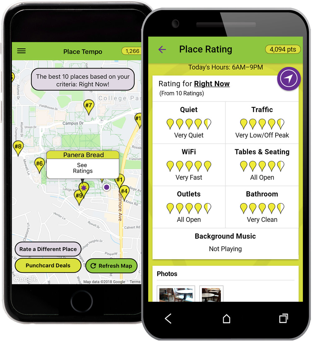 Place Tempo iPhone and Android Mobile App