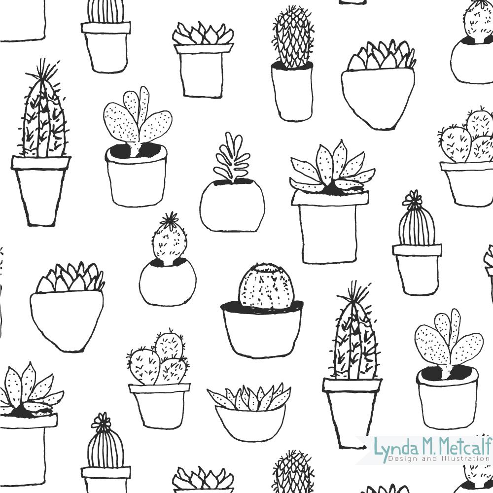 Black Line Cactus
