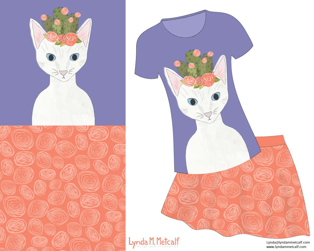 Cacti Cat T-shirt