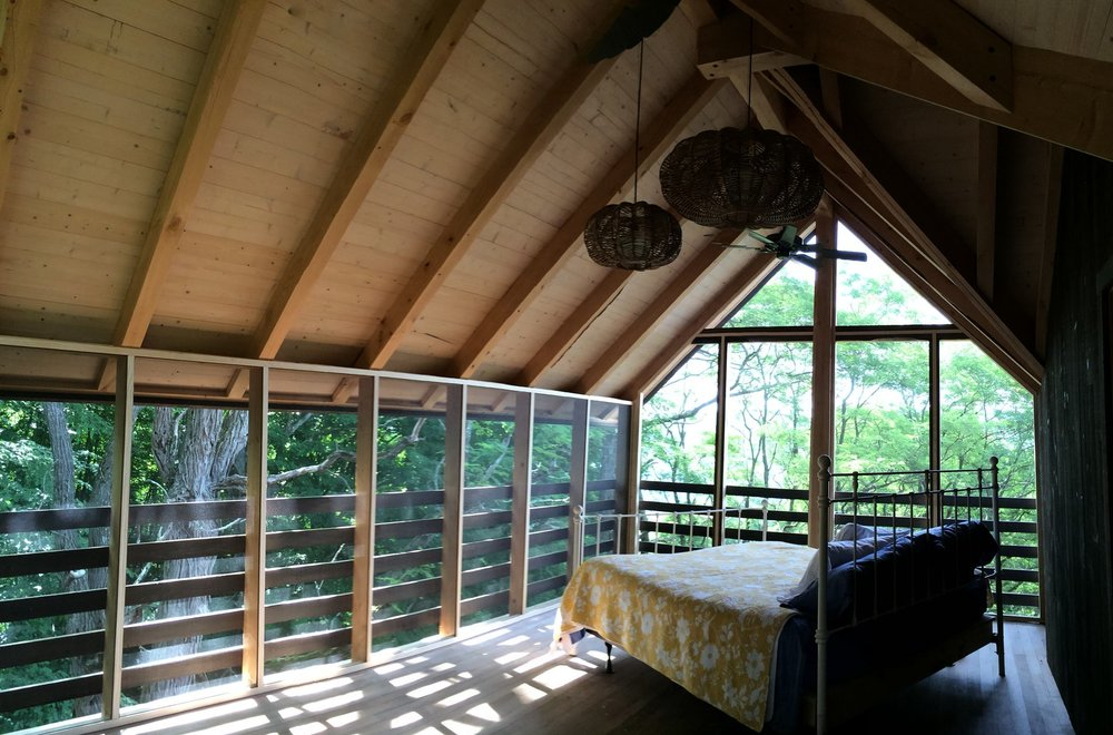 Screened sleeping porch