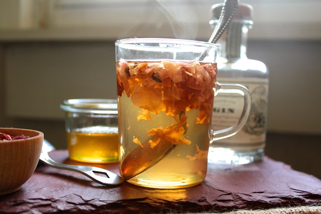Gin and Rose Hot Toddy
