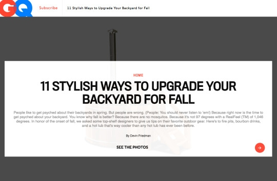 GQ: UPGRADE YOUR BACKYARD