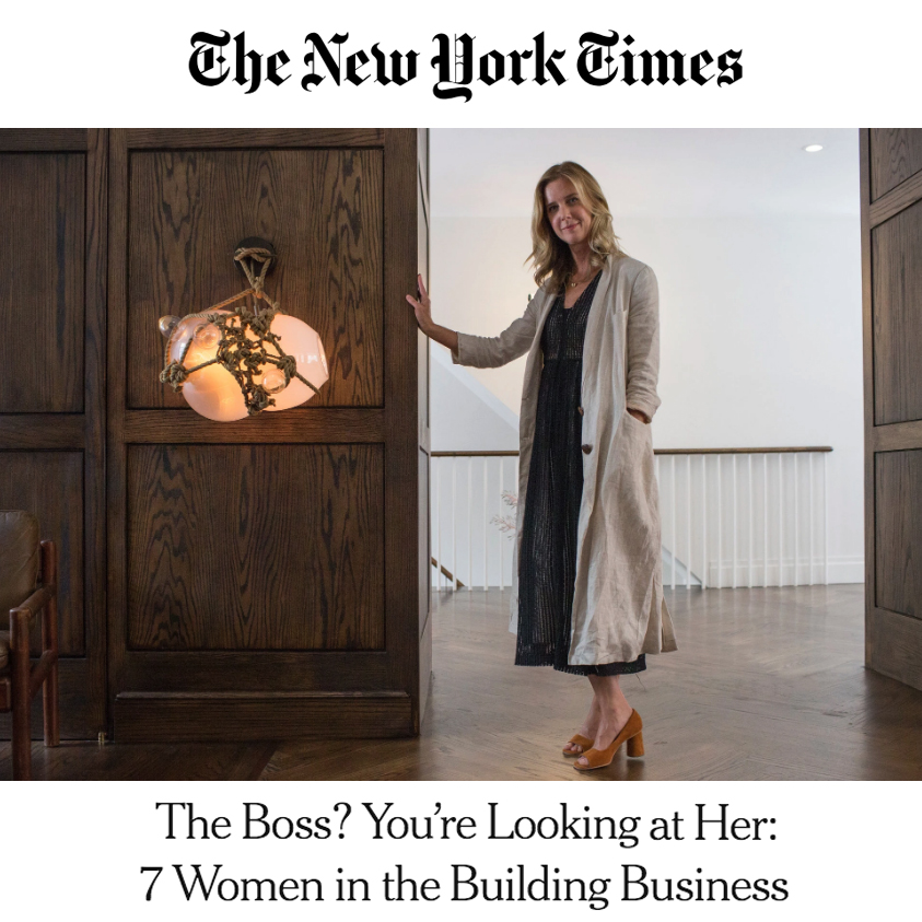 NY TIMES: THE BOSS? YOU'RE LOOKING AT HER: 7 WOMEN IN THE BUILDING BUSINESS