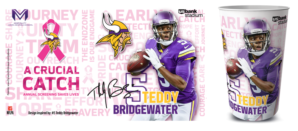 Teddy Bridgewater Vikings Cup