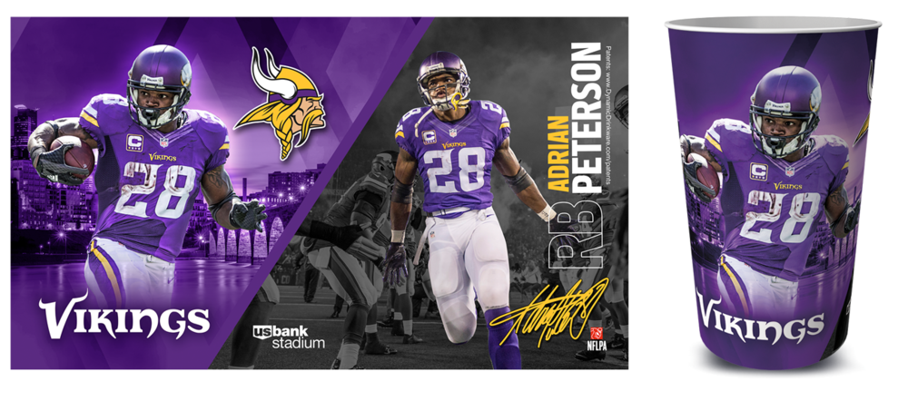 Adrian Peterson Vikings Cup