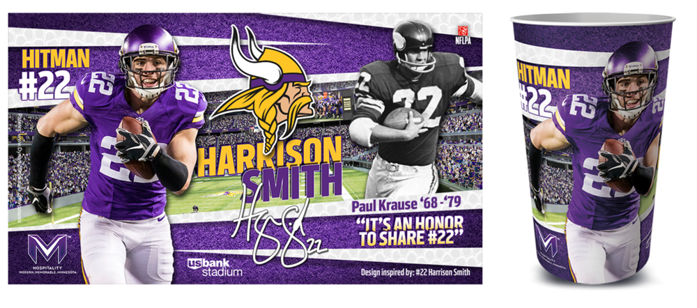 Harrison Smith Vikings Cup