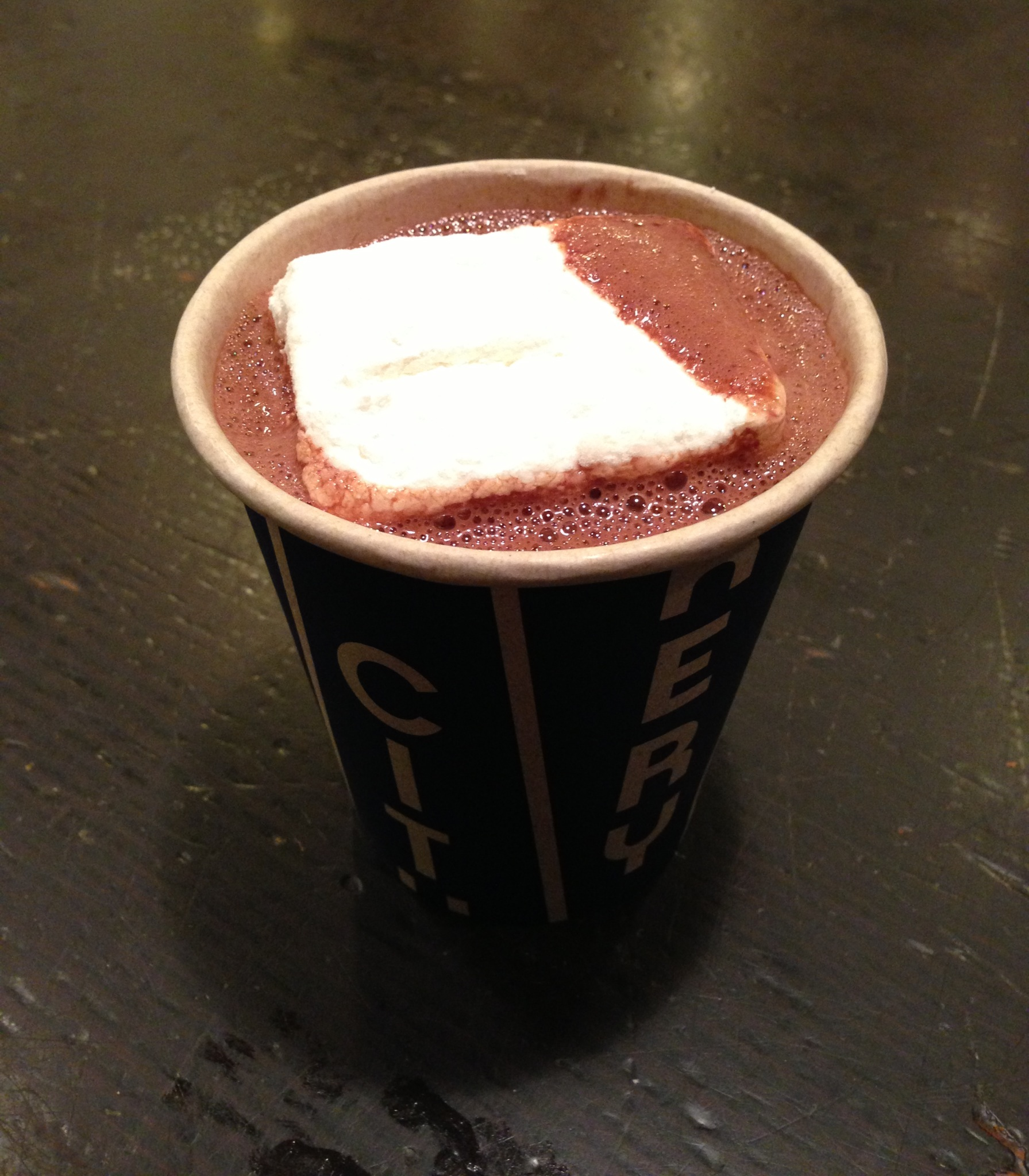 """Banana Peel"" hot chocolate at The City Bakery. Photo by Alex Nykamp."