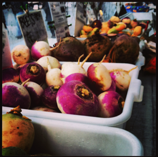 Unconventional Grows' Produce at NYC Greenmarket, Union Square. photo credit Emily Grace Finnell