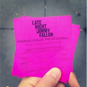 LNJF monologue tickets. Photo by Alex Nykamp.
