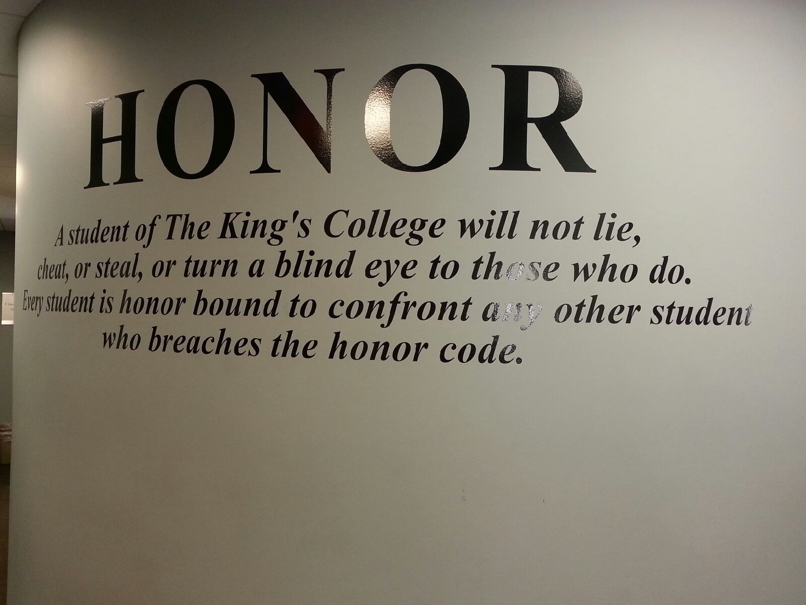 As of now, the student dress code is a part of the King's Honor Code, but some students would prefer if more of a division existed between the two policies.