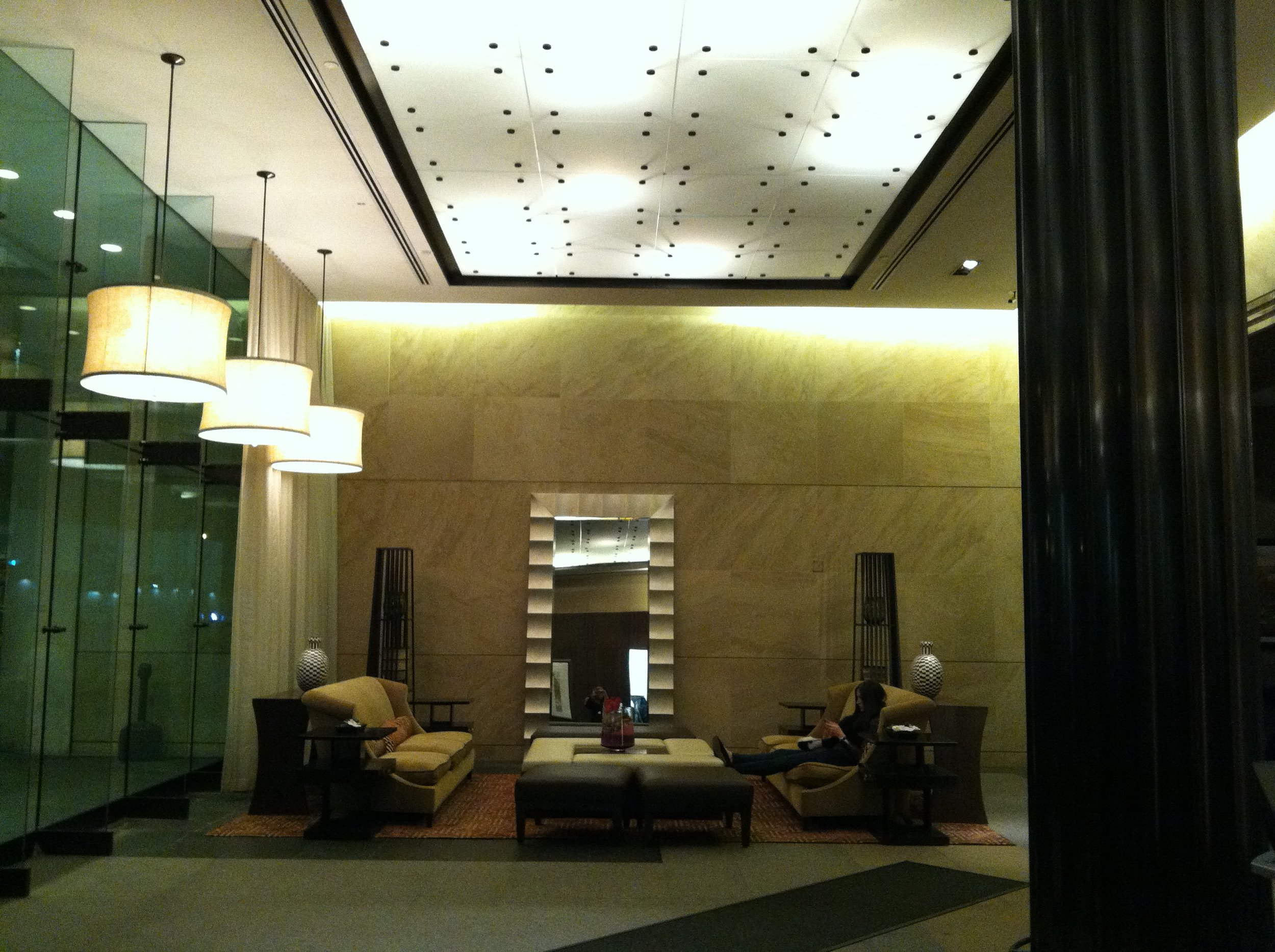 Lobby of 10 Hanover Square. Photo by Cori O'Connor.