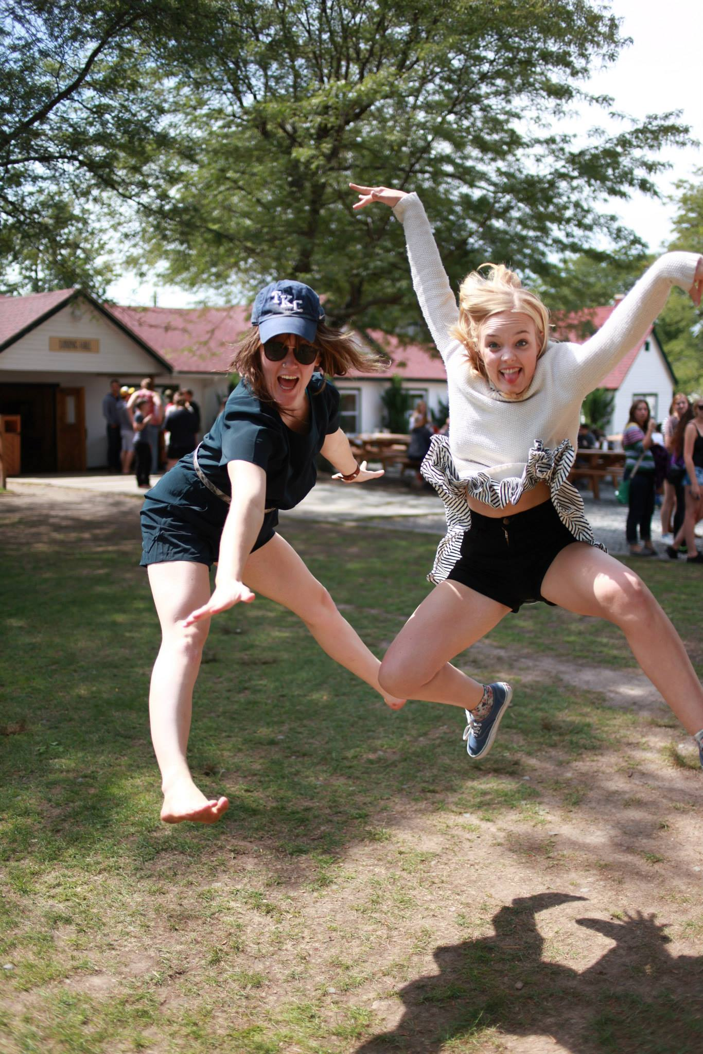 Lucinda Sweazey ('15) and Caley Goins ('14) represent the feelings of fall retreat. Photo by Elise Inman.