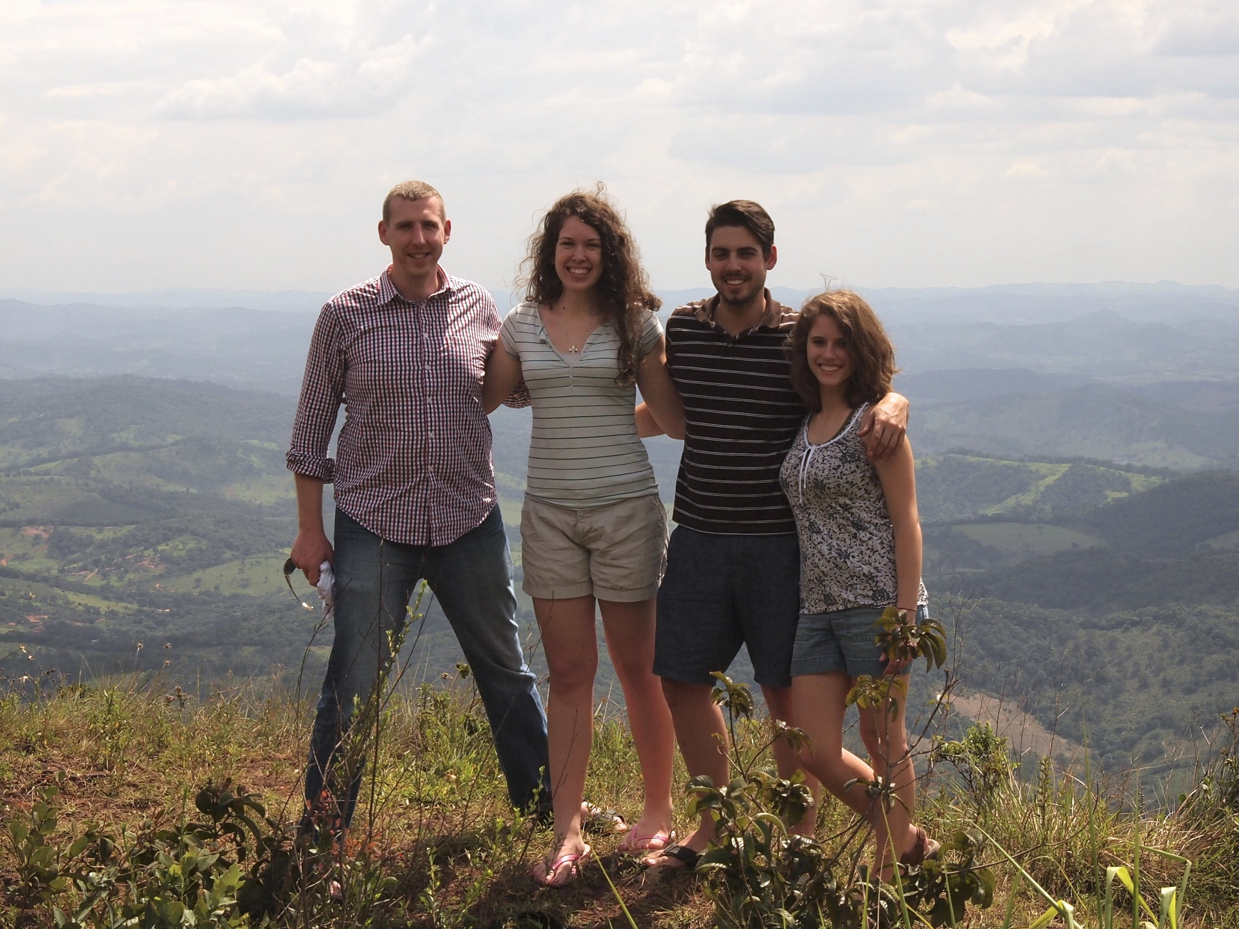 (l-r): Dr. Dru Johnson, Serenity Reichardson, Elijah McCready and Carolanne Ausband in Brazil. Used with permission.