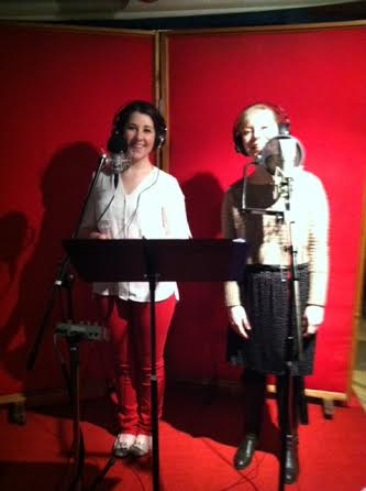 Chelsea-Dagmar Wetherill and Margaret O'Leary in Strouse's recording studio. Photo by Virginia Pike.