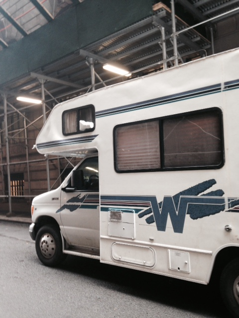 A Mitzvah Tank on Wall Street reaches out to the Financial District. Photo by Lucy LeFever.