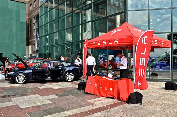 The luxury car company, Tesla made its debut at the 2014 Motorexpo. The company prides itself on customizable products.