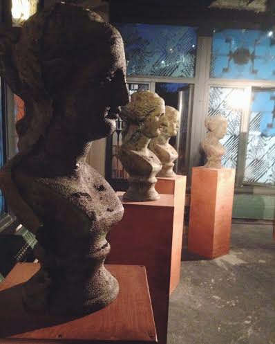 "Sculpture busts by Debbie Han for her collection ""Terms of Beauty VII."" Photo by Hannah Grubb."