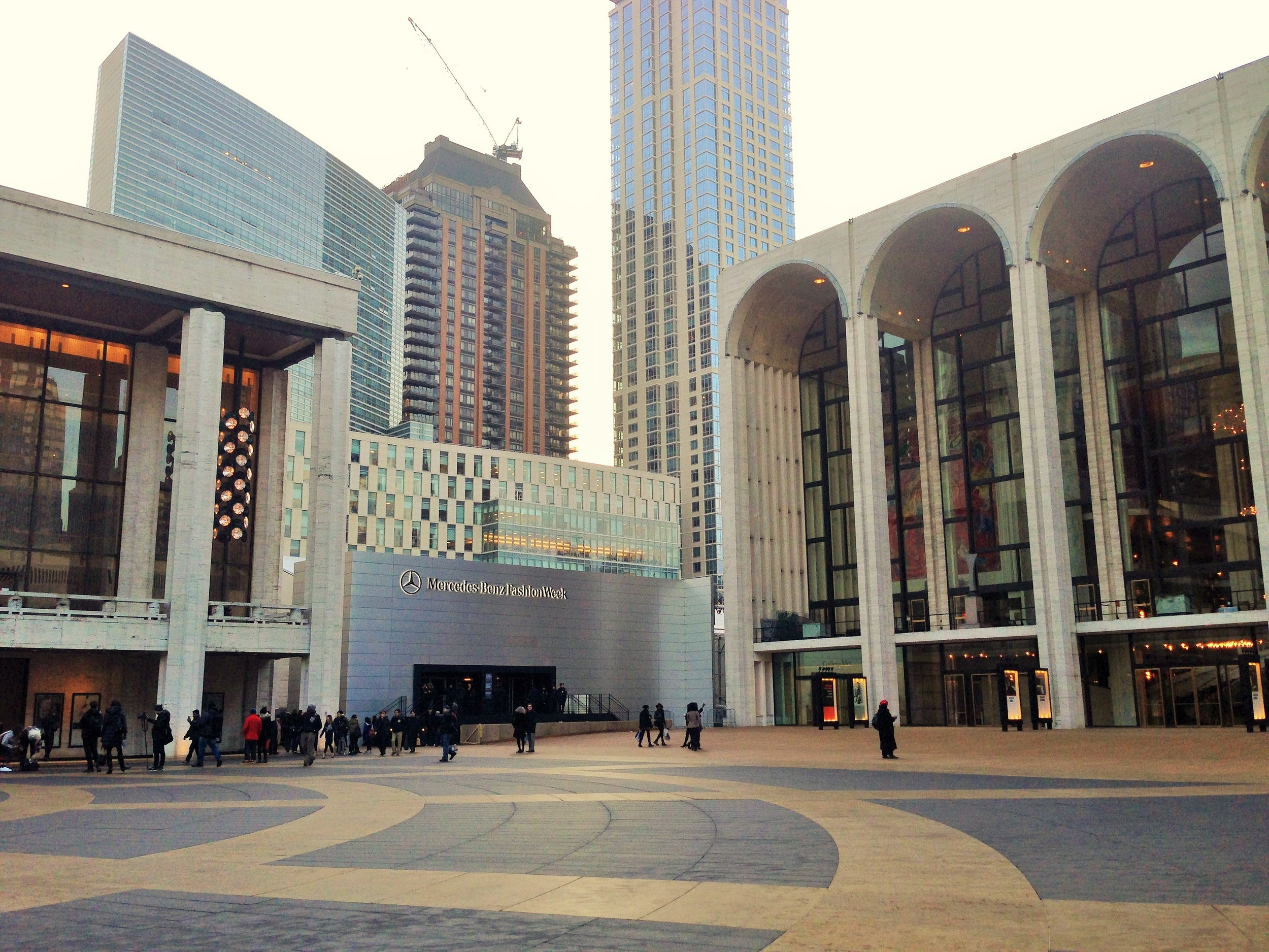 New York Fashion Week is currently held at Lincoln Center. Photo by Meagan O'Shaughnessy.