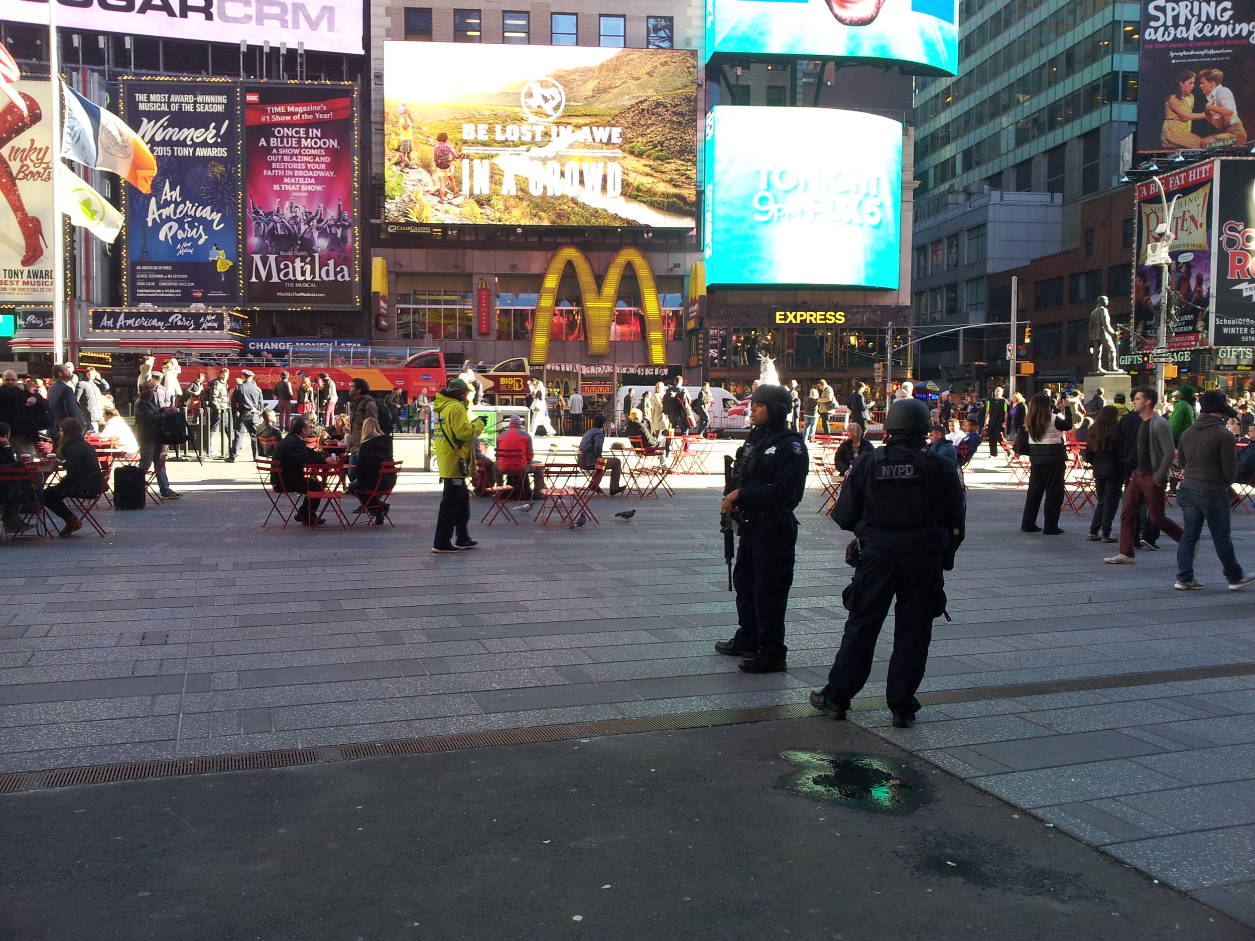 Police in Times Square. Photo by Davis Campbell.